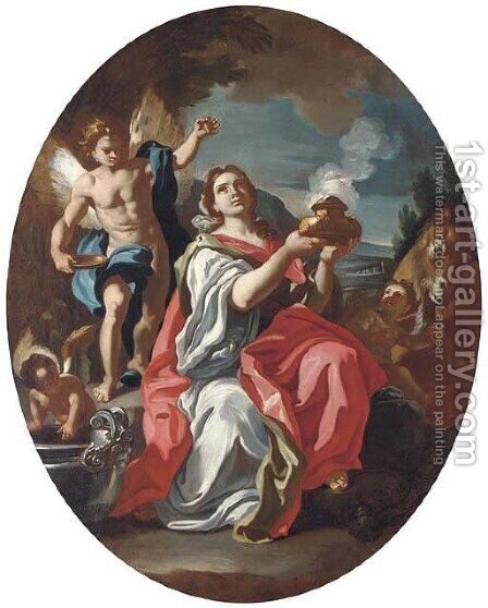 Pandora by (after) Francesco Solimena - Reproduction Oil Painting