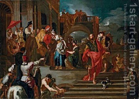 The Departure of Rebecca by (after) Francesco Solimena - Reproduction Oil Painting