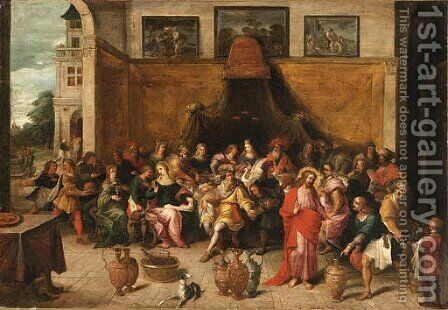 The Marriage at Cana by (after) Frans II Francken - Reproduction Oil Painting