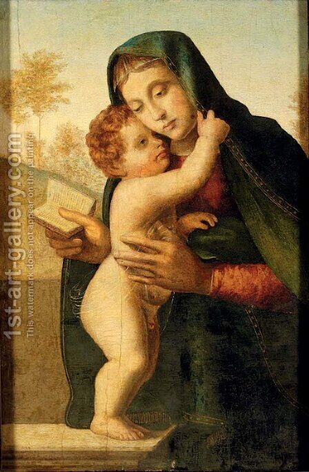 The Madonna and Child 3 by (after) Giuliano Bugiardini - Reproduction Oil Painting