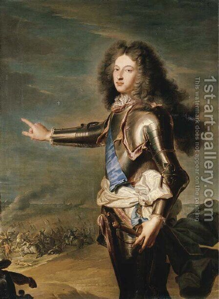 Portrait of Louis de France, Duc de Bourgogne (1682-1712) by (after) Hyacinthe Rigaud - Reproduction Oil Painting