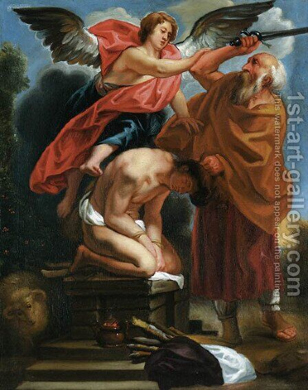 The Sacrifice of Isaac by (after) Jacob Jordaens - Reproduction Oil Painting