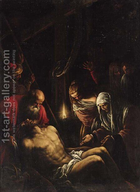 The Lamentation by (after) Jacopo Bassano (Jacopo Da Ponte) - Reproduction Oil Painting