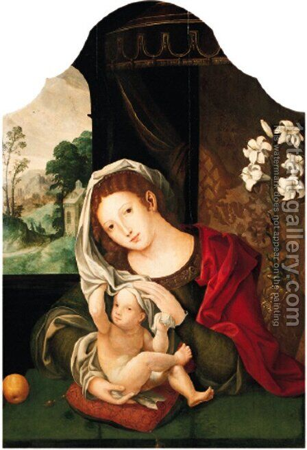 The Madonna and Child by (after) Jan (Mabuse) Gossaert - Reproduction Oil Painting