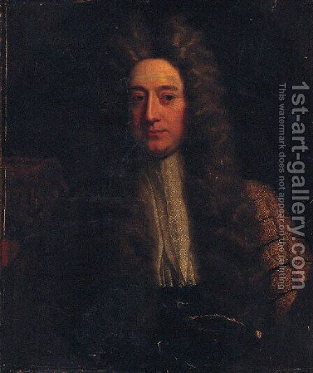 Portrait of Lord Chancellor William Cowper (d.1723) by (after) Richardson. Jonathan - Reproduction Oil Painting