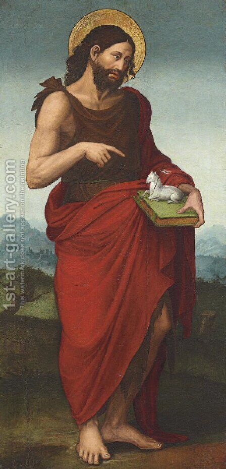 Saint John the Baptist by (after) Juan De Juanes - Reproduction Oil Painting