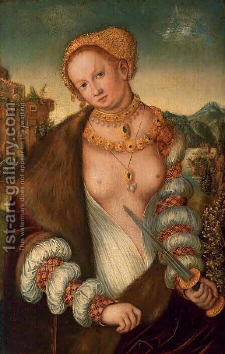 Lucretia by (after) Lucas The Elder Cranach - Reproduction Oil Painting