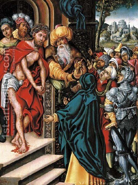 Ecce Homo by (after) Lucas The Elder Cranach - Reproduction Oil Painting