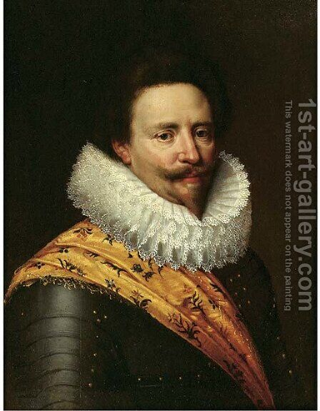 Portrait of Stadholder Frederik Hendrik, Prince of Orange (1584-1647) by (after) Michiel Jansz. Van Miereveld - Reproduction Oil Painting