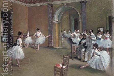 Dance school by (after) Edgar Degas - Reproduction Oil Painting