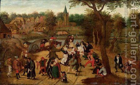 The return from the Kermesse by (after) Pieter The Younger Brueghel - Reproduction Oil Painting