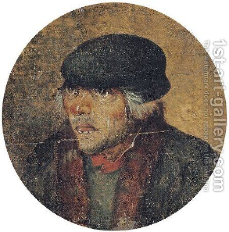 A peasant by (after) Pieter The Younger Brueghel - Reproduction Oil Painting