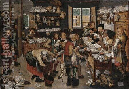 The collector of tithes 2 by (after) Pieter The Younger Brueghel - Reproduction Oil Painting