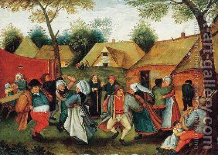 The Wedding Dance by (after) Pieter The Younger Brueghel - Reproduction Oil Painting