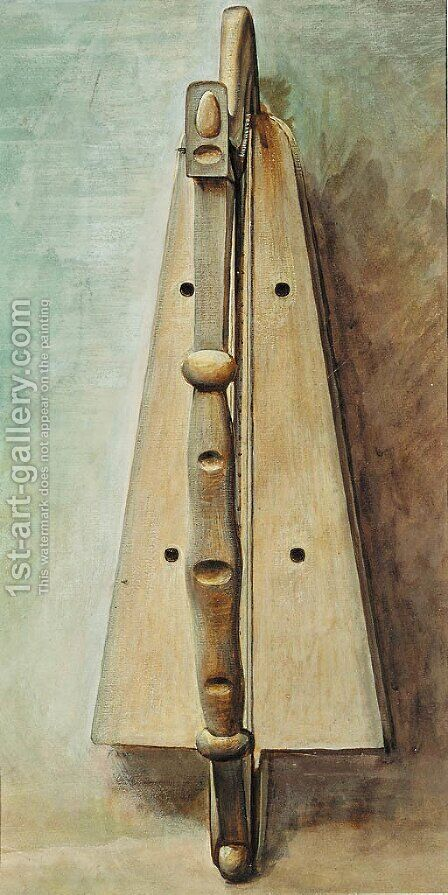 Study of a harp for 'Arthur in Avalon' by (after) Sir Edward Coley Burne-Jones - Reproduction Oil Painting
