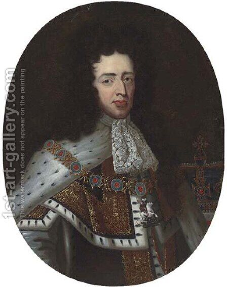 Portrait of William of Orange by (after) Kneller, Sir Godfrey - Reproduction Oil Painting