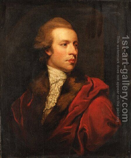 Portrait of James Coutts by (after) Sir Joshua Reynolds - Reproduction Oil Painting
