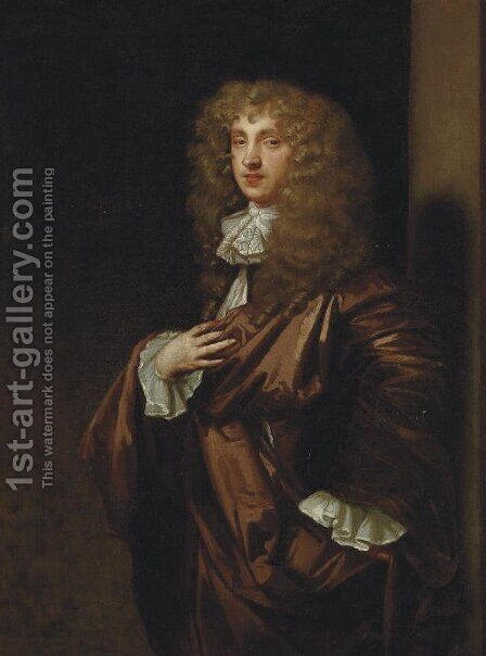 Portrait of John Wilmot, 2nd Earl of Rochester (1647-1680) by (after) Sir Peter Lely - Reproduction Oil Painting