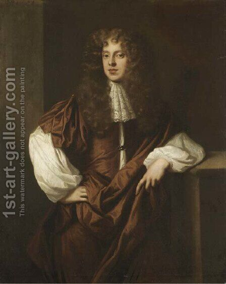 Portrait of Sir Thomas Myddelton, 2nd Bt. (1651-1684) by (after) Sir Peter Lely - Reproduction Oil Painting
