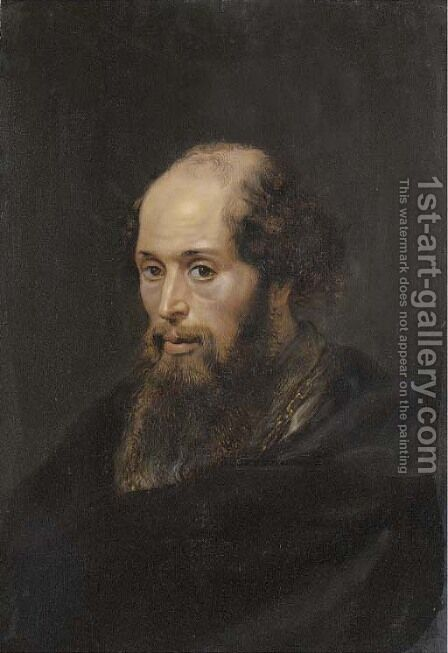Portrait of a bearded gentleman by (after) Sir Peter Paul Rubens - Reproduction Oil Painting
