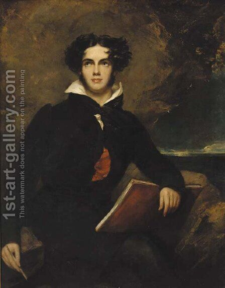Portrait of George Gordon Byron, 6th Baron Byron (1788-1824) by (after) Lawrence, Sir Thomas - Reproduction Oil Painting