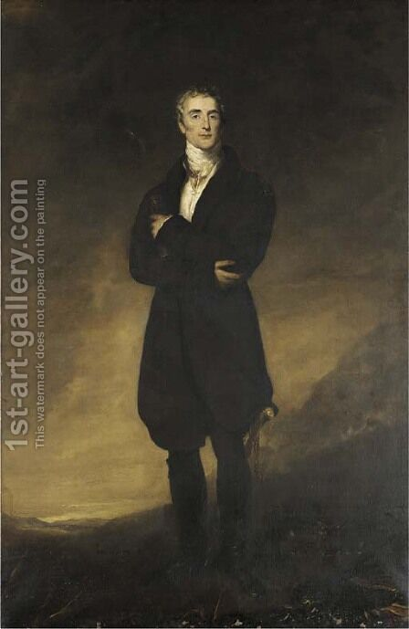 Portrait of Arthur Wellesley, 1st Duke of Wellington (1769-1852) by (after) Lawrence, Sir Thomas - Reproduction Oil Painting