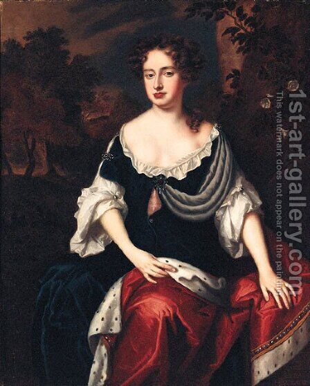 Portrait of Queen Anne by (after) William Wissing Or Wissmig - Reproduction Oil Painting