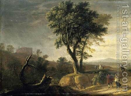 An Italianate Landscape 1649 by Herman Van Swanevelt - Reproduction Oil Painting