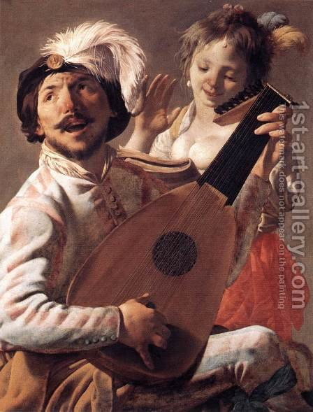 Duet 1628 by Hendrick Terbrugghen - Reproduction Oil Painting