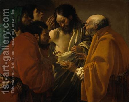 The Incredulity of Saint Thomas c. 1604 by Hendrick Terbrugghen - Reproduction Oil Painting