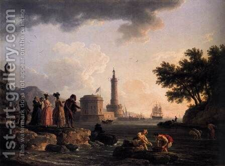 A Seashore 1776 by Claude-joseph Vernet - Reproduction Oil Painting