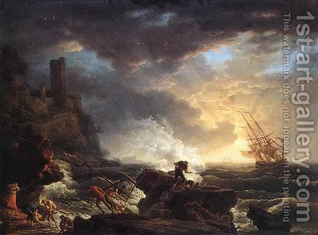 Shipwreck 1759 by Claude-joseph Vernet - Reproduction Oil Painting