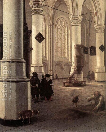 The New Church at Delft by Hendrick Van Vliet - Reproduction Oil Painting