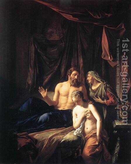 Sarah Presenting Hagar to Abraham 1699 by Adriaen Van Der Werff - Reproduction Oil Painting