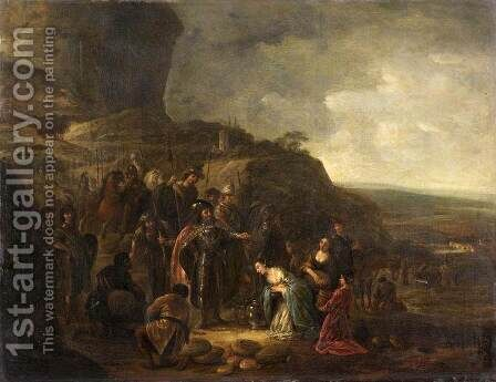 The Meeting Of David And Abigail by Jacob Willemsz de Wet the Elder - Reproduction Oil Painting