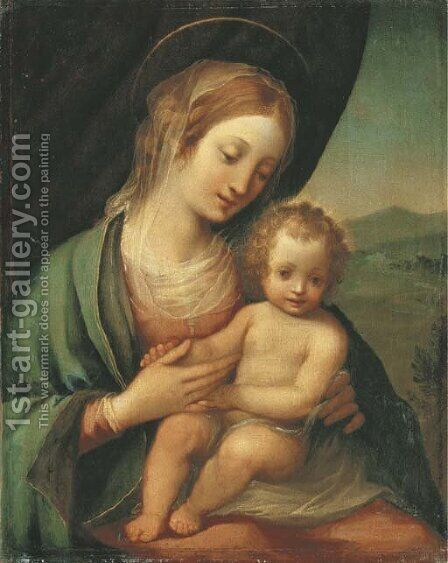 The Madonna and Child by Carlo Bevilacqua - Reproduction Oil Painting