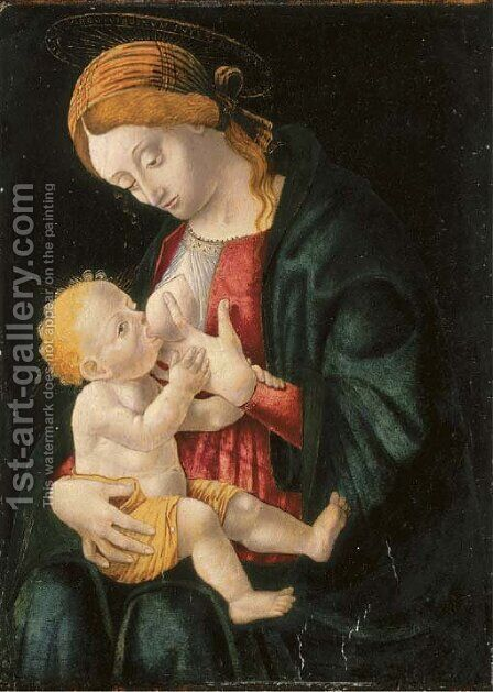 The Madonna and Child by (after) ALBA, Macrino D' Alba - Reproduction Oil Painting