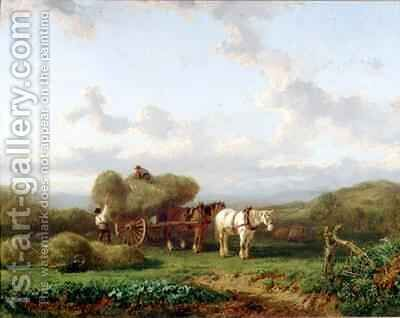 The Hay Cart by A. de Bylandt - Reproduction Oil Painting