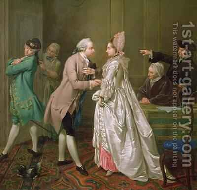 The Betrothal by Jacobus Buys - Reproduction Oil Painting