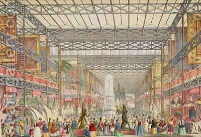 Interior of the Crystal Palace by Augustus Butler - Reproduction Oil Painting