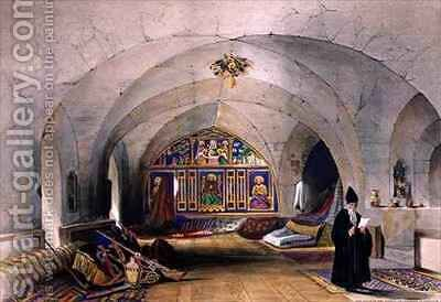Room in an Armenian Convent, in Jerusalem by A. Margaretta Burr - Reproduction Oil Painting