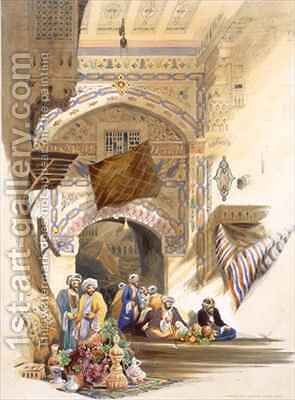 Gateway of a Bazaar, Grand Cairo by A. Margaretta Burr - Reproduction Oil Painting