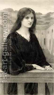 Vespertina Quies by (after) Sir Edward Coley Burne-Jones - Reproduction Oil Painting