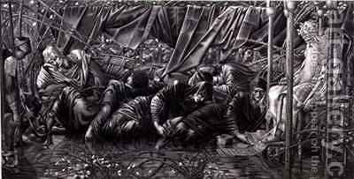 The Legend of the Briar Rose The Council Room by (after) Sir Edward Coley Burne-Jones - Reproduction Oil Painting