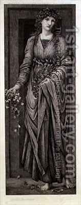 Flora by (after) Sir Edward Coley Burne-Jones - Reproduction Oil Painting