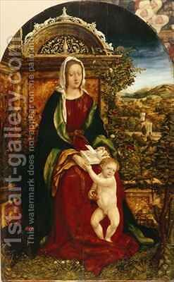 Madonna and Child by Hans, the elder Burgkmair - Reproduction Oil Painting