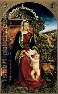 The Virgin and Child by Hans, the elder Burgkmair - Reproduction Oil Painting