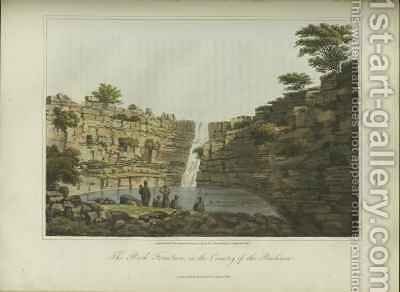 The Rock Fountain in the Country of the Bushmen by (after) Burchell, William John - Reproduction Oil Painting