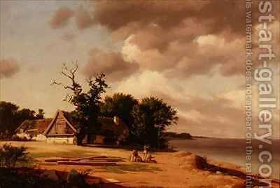 Fisherfolk at Oresund by Heinrich Buntzen - Reproduction Oil Painting
