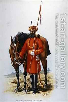 The Governor-General's Bodyguard, Calcutta by H. Bunnett - Reproduction Oil Painting